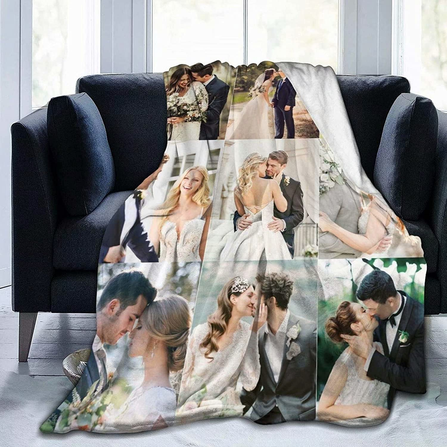 ECKOI Over item handling ☆ Limited Special Price Custom Blanket with Photo Text Throw Bedding Cust Blankets