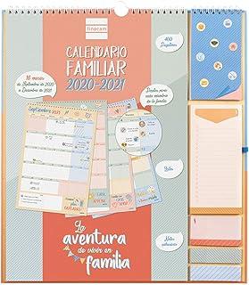Finocam - Calendario de Pared Familiar 16 Meses 2020-2021 Plus 340x380 Mes Vista Aventura Plus Español