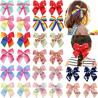 8 inch Big Huge Large Sparkly Glitter Rhinestones Rainbow Large Hair Bows Alligator Hair Clips for Girls Toddlers Women 小号