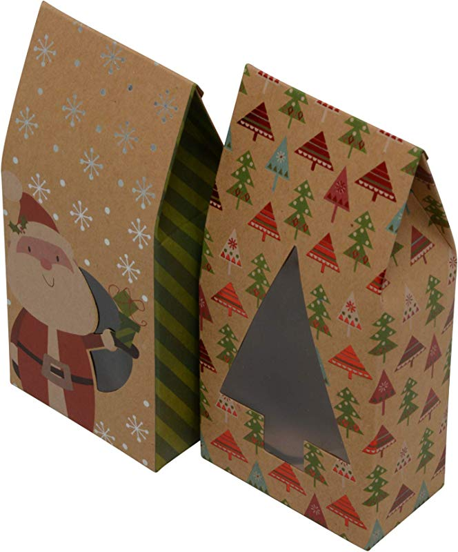 Christmas Cookie Tent Boxes Set Of 12 Boxes Style B No Stickers