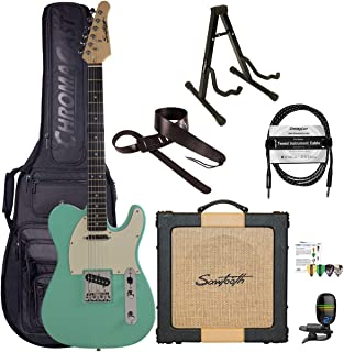 Sawtooth Classic ET60 Surf Green Guitar Players Pack