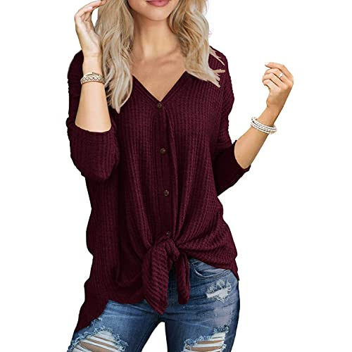 Marysay Women s Long Sleeve Snap Button Down Solid Color Knit Ribbed  Neckline Cardigans 176805a20