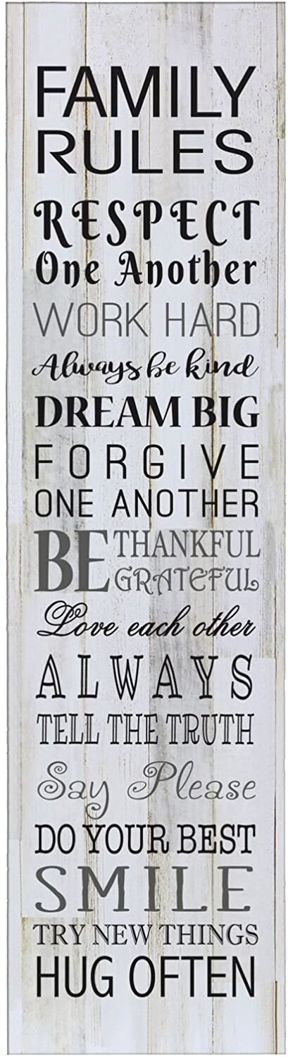 LifeSong 67% OFF of fixed price Milestones Family Outstanding Rules Decorative Living Wall Sign for