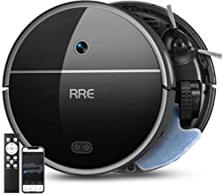 RRE Robot Vacuum, 2-in-1 Vacuum and Mop, Ideal for Pet Hair,Floor and Low Pile Carpets,Smart Mapping,Wi-Fi Connected, Slim...