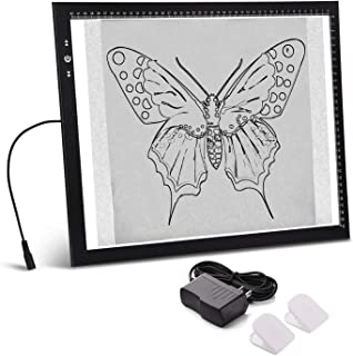 A3 Light Box Light Pad Aluminium Frame Touch Dimmer 11W Super Bright Max 4500 Lux with..