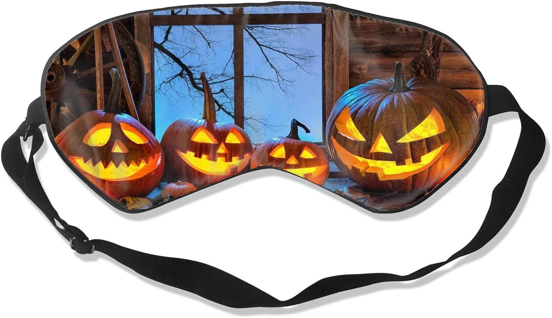 Evil Halloween Pumpkin New Orleans Mall 25 Sleeping Masks for Max 48% OFF Men U Women and