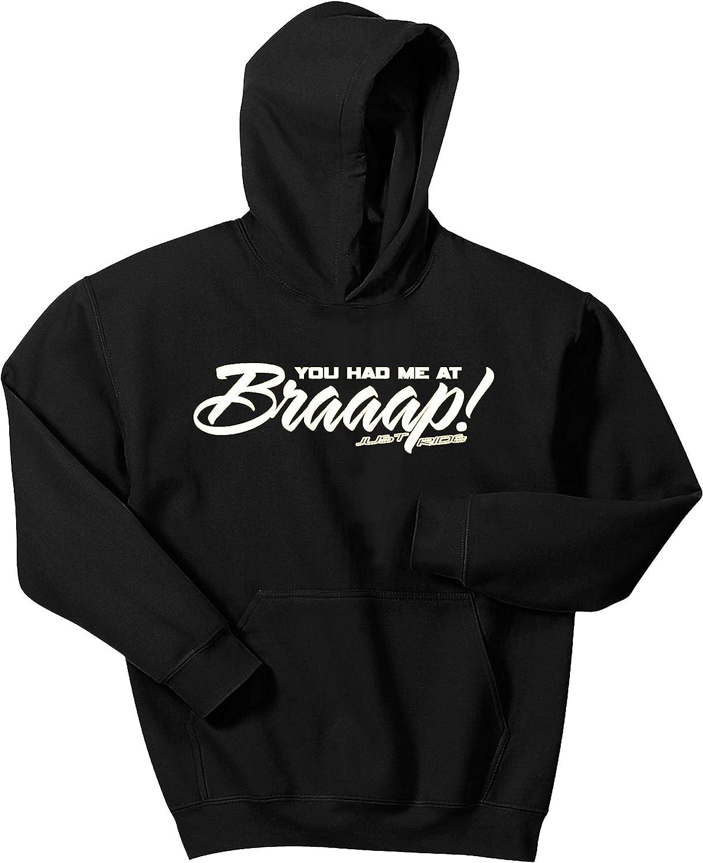 記念日 Just Ride Braaap His 超人気 専門店 or Hoodie Hers Number Sweatshirt Motocross