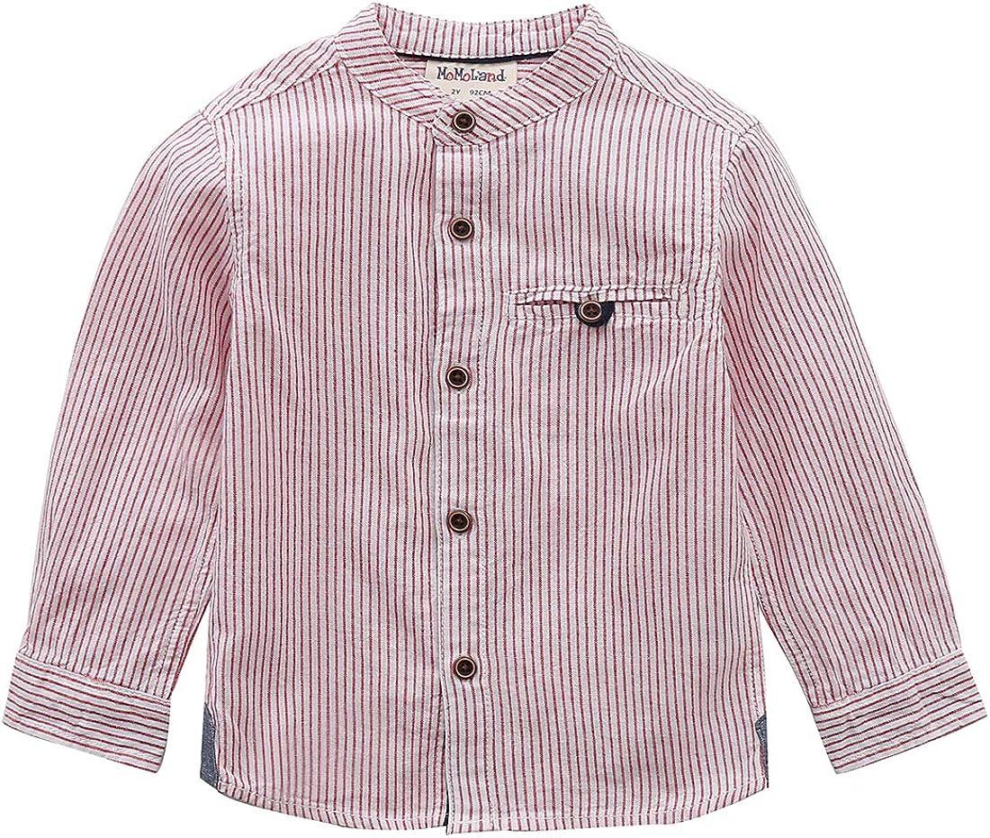 MOMOLAND Spasm price Little Boys Long Sleeve Mandarin Woven Button Phoenix Mall Collar Do
