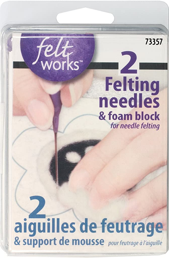 Dimensions Needlecrafts Feltworks, Felting Needles & Foam Block
