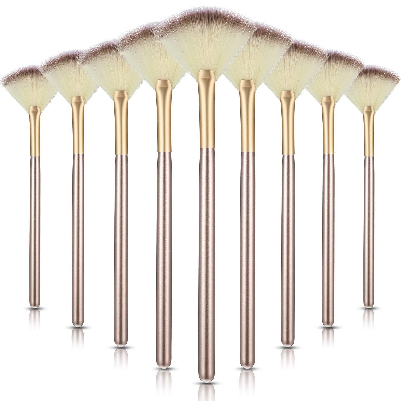 9 Pieces Soft Facial Makeup Powder Brush Mesa Mall Cosmetics Max 68% OFF Brushe