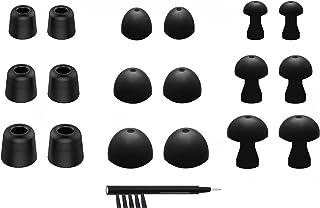 مجموعة استبدال متنوعة من NICKSTON N-1 سماعات أذن مع منظم صندوق وأداة تنظيف لسماعات الأذن