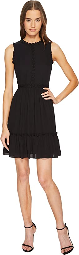 Kate Spade New York - Floral Lace Trim Mini Dress