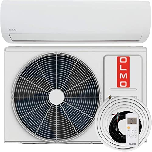 OLMO Alpic 24000 BTU Ductless Mini Split Air Conditioner Heating and Cooling Full Set with 16ft Installation Kit