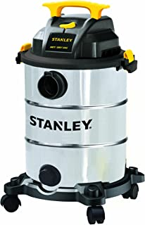 Stanley Wet/Dry Vacuum SL18117,8 Gallon 4 Peak HP Shop Vac with 16 Cleaning Range Stainless Steel Tank, Heavy-Duty Shop Vacuum with Attachments, Ideal for Home/Garage/Upholster/Laundry Rooms