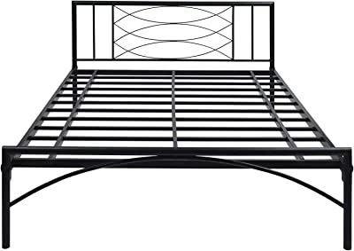 @home by Nilkamal Ursa Queen Size Metal Bed (Iron - Black)