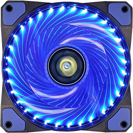 CONISY 120mm PC Case Cooling Fan Ultra Quiet Computer Gaming Cooler High Airflow Fans for Desktops (Blue)