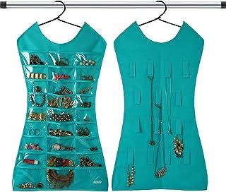KRIO Hanging Jewellery Organizer Dress Dual Sided Jewelry Storage