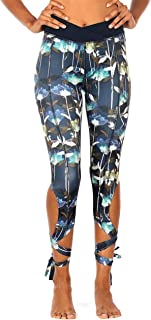 icyzone Yoga Pants for Women - Workout Running Leggings Athletic Capris Gym Exercise Tights