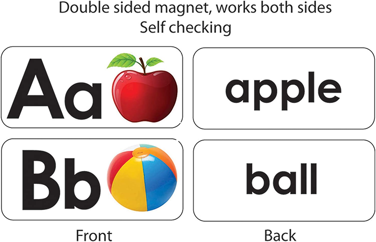 ASHLEY PRODUCTIONS Max 75% OFF ABC safety Picture Magnets Double-Sided Words