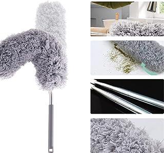 Plumero extensible microfibra alcance extensión100 pulgadas,plumero plumas lavable varilla extensión acero inoxidable cabezal flexible para limpieza ventiladores techo altos,persianas,Cobweb,coches