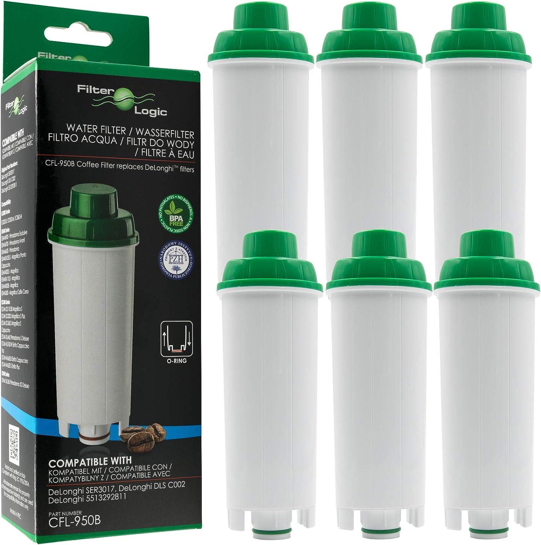 Dinamica Clarifilter CLF-11 Filtre /à eau pour machine /à caf/é automatique compatible avec DeLonghi DLSC002 SER3017 5513292811 Cafeti/ère Magnifica Eletta /& ECAM ESAM ETAM 4 Maestosa Primadonna