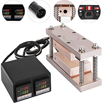 Tuopuke Gold Caged Cube Kits With Dual Solid 6061 Plates in Heat Cube, Dual Heaters, Dual Temp Sensors, Temperature Control Box (3inx7in)