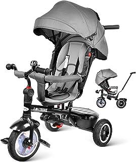 comprar comparacion besrey 7 en 1 Triciclos Bebes reclinable con Asiento Giratorio, Triciclo para Bebe Nino evolutivo Infantil Trike Cochecito