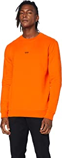 BOSS Mens Weevo Logo-Print Sweatshirt in Cotton-Blend French Terry