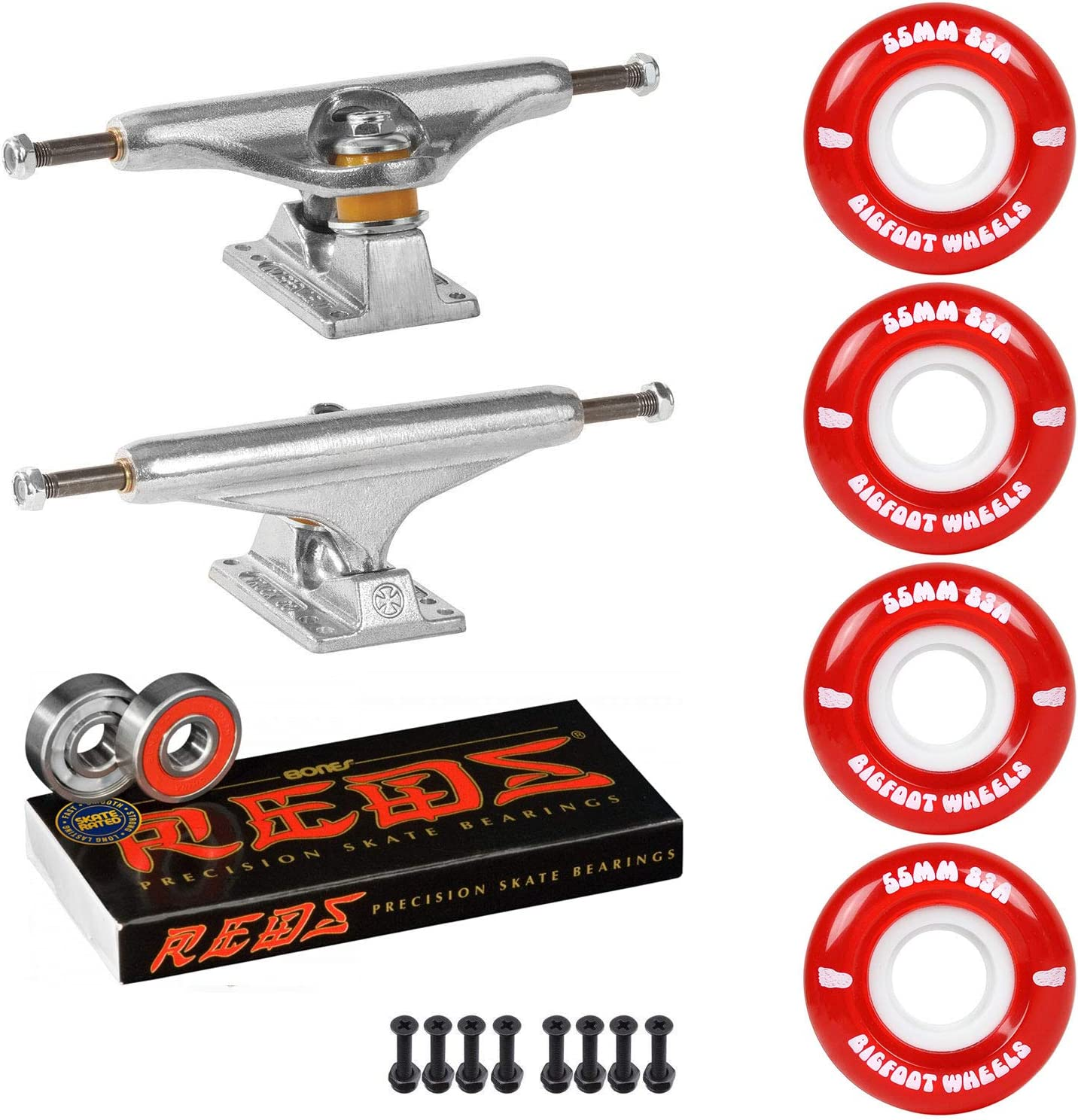 Independent Trucks Skateboard 83A Cruiser Dedication Max 69% OFF Bones Wheels R Package