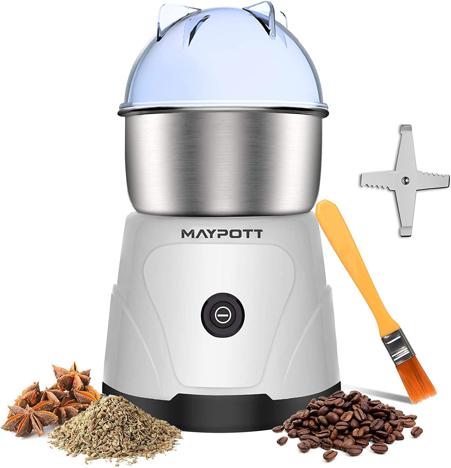 specialty shop Coffee Grinder Electric Spice 200W sold out Stainless St Maypott