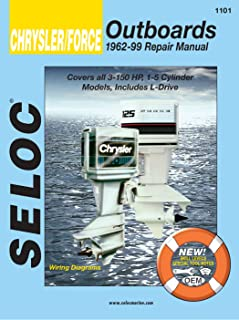 Sierra International Seloc Manual 18-01101 Chrysler/Force Outboards Repair 1962-1999 3-150 HP 1-5 Cylinder Model Includes L-Drives