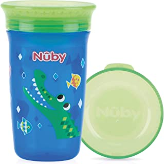 Nuby Any Angle Sip 360 Wonder Cup with Cover 6m+, 300 ml - 10110411 (Color & Print May Vary)