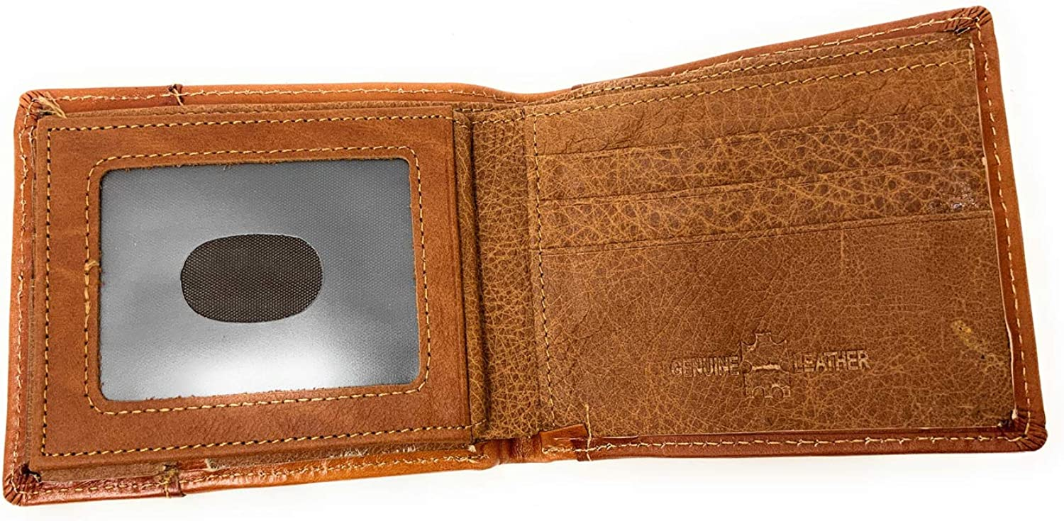 Western Men's Leather Rooster Floral Tooled Laser Cut Lone Star Short Wallet in 9 colors