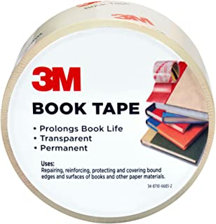 Scotch Book Tape, 2.83 in. x 15 yd., 1 Roll/Pack
