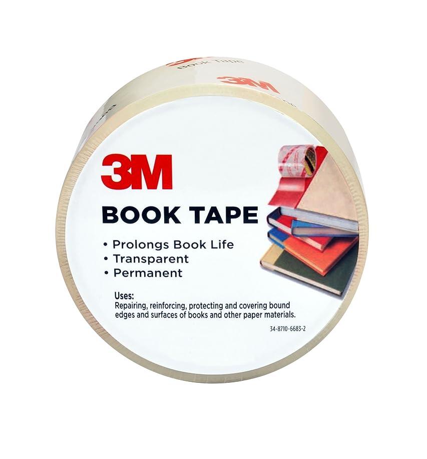 Scotch Book Tape, 2.83 in. x 30 yd., 1 Roll/Pack