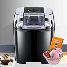 Sorbetière Glacée, Dessert prêt en 15 à 30 Minutes, Machine à Glace Douce pour la Maison Avec Bouton Rotatif, Machine à Cr...