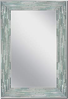 Head West Reeded Sea Glass Wall, 23.5 inches x 35.5 inches Mirror, Multi