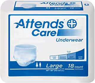 Attends Heavy Absorbency Protective Underwear, Size Large, Case of 72