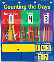 """Counting The Days Compact Pocket Chart – Get Students Involved in a Daily Counting Activity – Count The Number of Days Left in School – Grommets and Magnetic Strip for Easy Hanging, 15 3/4"""" x 18 3/4"""""""