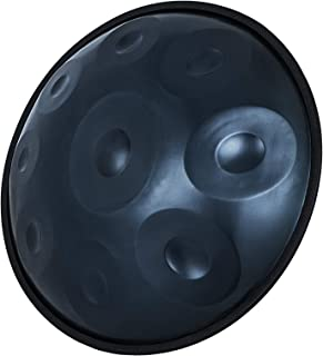 """Happybuy Handpan In D Minor 9 Notes 22 inches Steel Hand Drum with Soft Hand Pan Bag Hand Pan Steel Drum 2 (22"""" (56cm) Deep Blue (d Minor) 9 Notes (d3 A Bb C D E F G A)"""