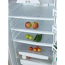 Kuber Industries Circle Design 6 Piece PVC Refrigerator Drawer Mat Set – 48 cm x 33 cm , White