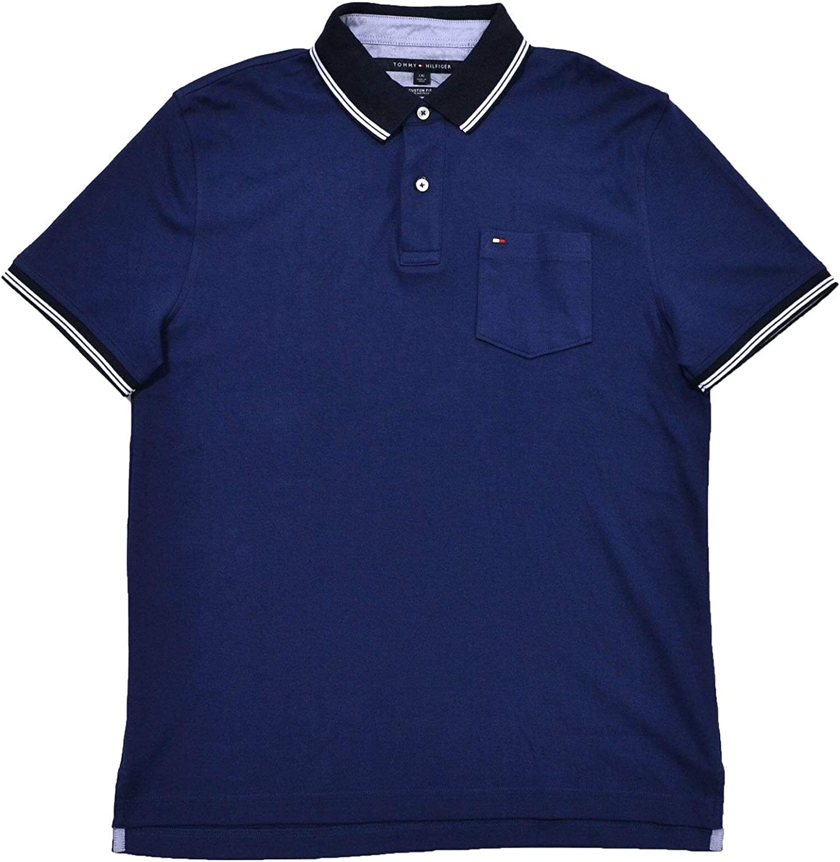 Tommy Hilfiger Mens Custom Fit Shirt depot Pocket Interlock Phoenix Mall Polo