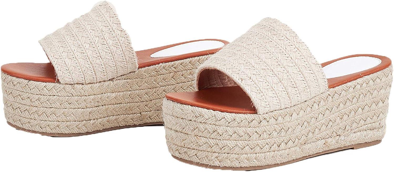 Erocalli Platform Slip on Espadrille for 2021 spring and summer new Fort Worth Mall Wedges Sandals Women Sl