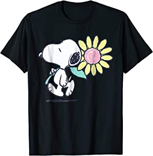 Snoopy pink daisy flower T-shirt