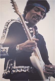 """Officially Licensed Jimi Hendrix White Guitar Wrapped Canvas Wall Art (36"""" H x 24"""" L)"""