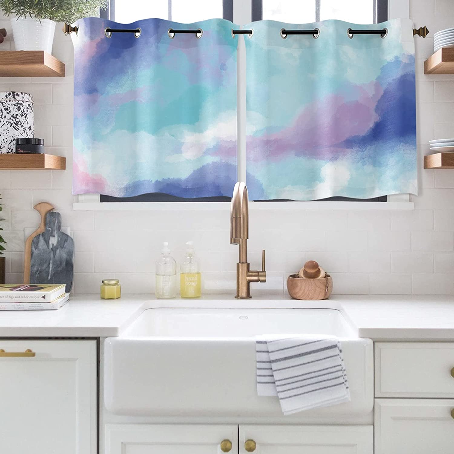 Abstract 55% OFF Art Window Curtains Tucson Mall for Darkeni Room Bedroom Polyester