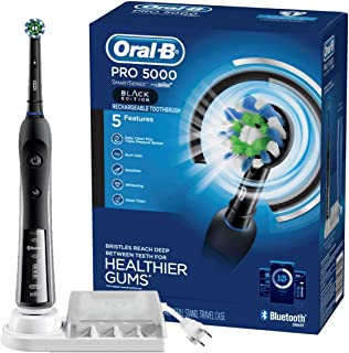 Oral-B Pro 5000 Smartseries Electric Toothbrush With Bluetooth Connectivity, Black Edition (Powered By Braun),1 Count