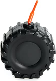 Monster Truck Tractor Tire Childrens Birthday Party Supplies - Truck Tire Plastic Sippy Cup with Straw (16)
