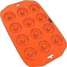 Silicone Mini Donut Maker Baking Pan Tray - 12 Holes - Pure Food Grade Non-Stick Silicone - Orange