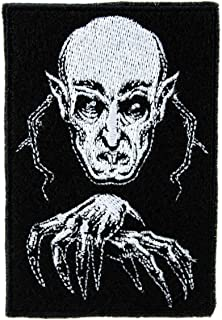 Nosferatu 1922 Vampire Count Orlok Embroidered Patch Iron on Applique Horror Clothing